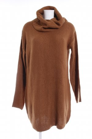 H&M Sweater Dress brown loosely knitted pattern casual look
