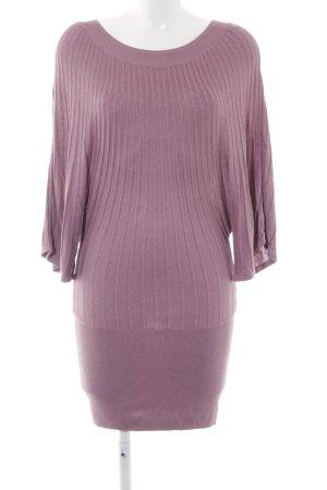 H&M Sweaterjurk grijs-lila casual uitstraling