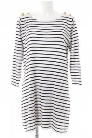 H&M Sweater Dress white-black striped pattern casual look