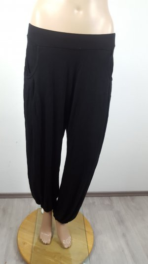 H&M Pantalon large noir viscose