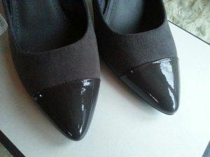 H&M Pumps Pointed Heels grau fake wildleder Blogger zara mango 38 spitz