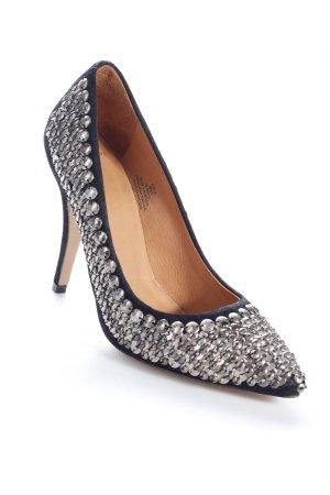 H&M Pumps schwarz-grau Nieten-Detail