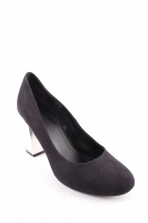 H&M Pumps schwarz Metallic-Optik