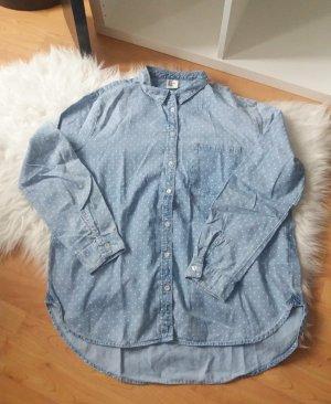 H&M Punkte Basic Hemd, Größe 42