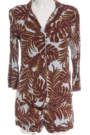 H&M Pijama estampado con diseño abstracto estilo extravagante