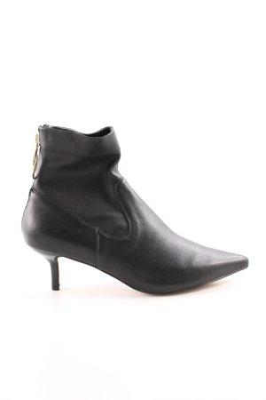 H&M Reißverschluss-Stiefeletten schwarz-goldfarben Casual-Look