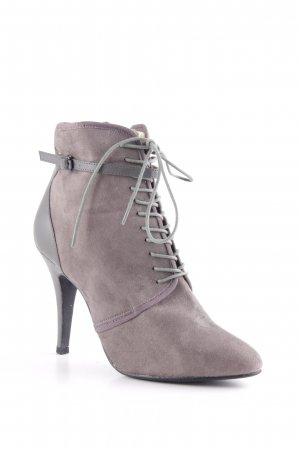 H&M Reißverschluss-Stiefeletten grau Business-Look