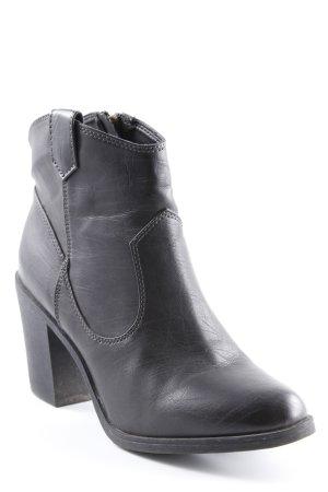 H&M Reißverschluss-Stiefeletten schwarz Country-Look