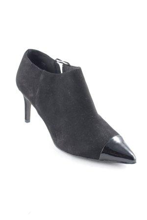 H&M Reißverschluss-Stiefeletten schwarz extravaganter Stil