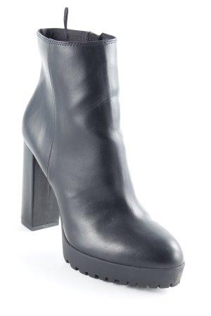 H&M Reißverschluss-Stiefeletten schwarz Gothic-Look