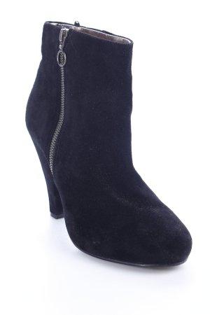 H&M Reißverschluss-Stiefeletten schwarz Party-Look