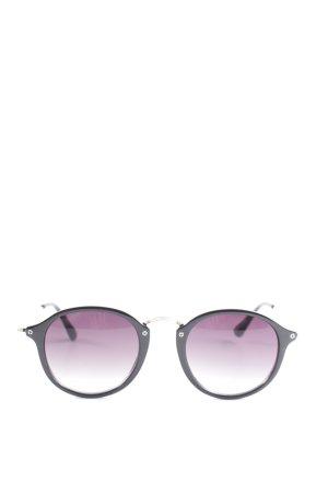 H&M Retro Brille schwarz-goldfarben Casual-Look