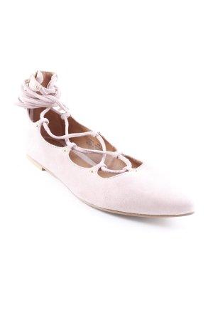 H&M Riemchen Ballerinas altrosa extravaganter Stil