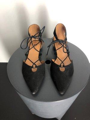 H&M Riemchen Ballerinas, schwarz
