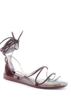 H&M Riemchen-Sandalen bordeauxrot minimalistischer Stil