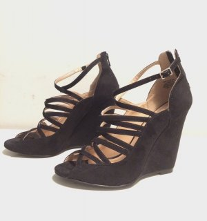 H&M Riemchen Sandalen Sandaletten mit Keilabsatz Wedges Gr. 40