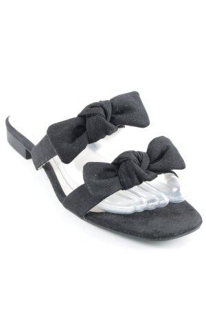 H&M Riemchen-Sandalen schwarz Casual-Look