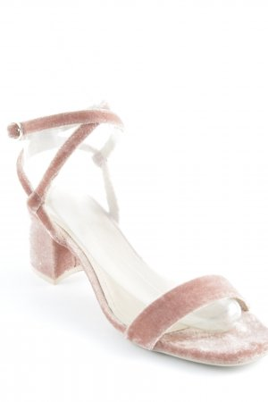 H&M Strapped High-Heeled Sandals dusky pink extravagant style