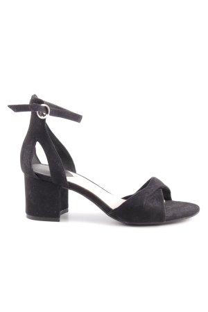 H&M Sandales à talons hauts et lanière noir élégant
