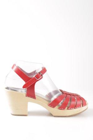H&M Escarpins à lanière rouge-crème style décontracté