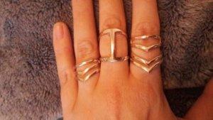 H&M Ring Ringe Set 3er Pack Arrows Hippie Boho Blogger Roségold
