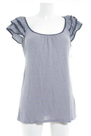 H&M Maglietta a righe bianco sporco-blu scuro motivo a righe stile marinaro