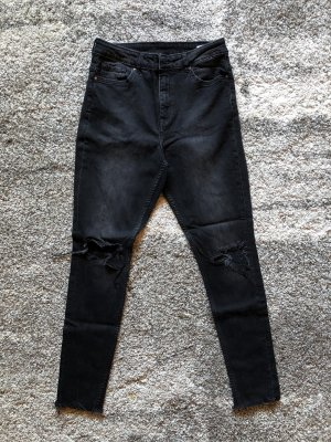 H&M Divided High Waist Jeans black