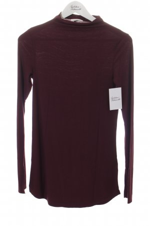 H&M Rippshirt brombeerrot Casual-Look