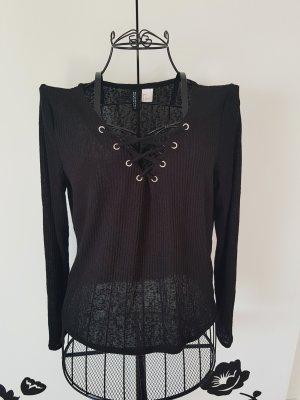 H&M Divided Camisa acanalada negro