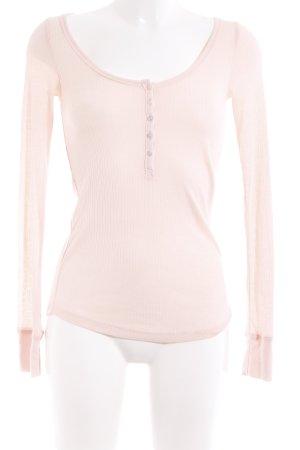 H&M Rippshirt rosé Casual-Look
