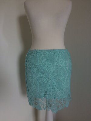 H&M Lace Skirt turquoise-light blue