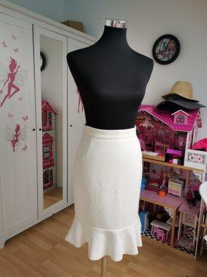 H&M Conscious Collection High Waist Skirt white