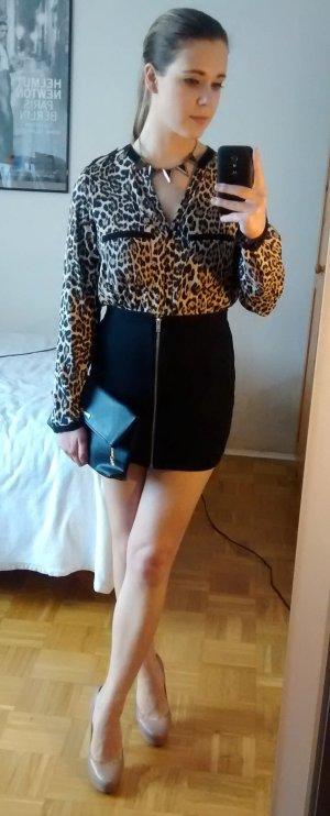 H&M Rock Gr. 36 S Reißverschluss zip mini sexy bodycon kurz blogger