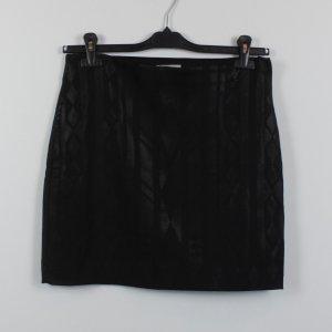 H&M Rock Gr. 40 schwarz Pailletten Muster (18/11/128)