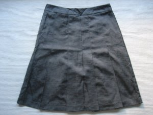 H&M Pleated Skirt anthracite-silver-colored