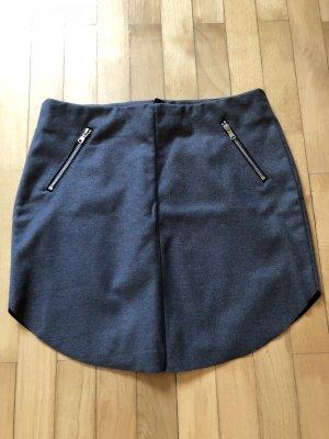 H&M Mini rok grijs-zilver Polyester