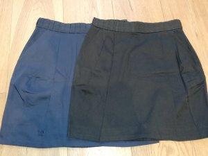 H&M High Waist Skirt black-dark blue