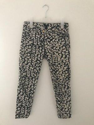 H&M Drainpipe Trousers black-white