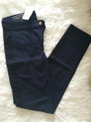 H&M Röhren Skinny Hose Jeans 38 M neu dunkelblau schwarz