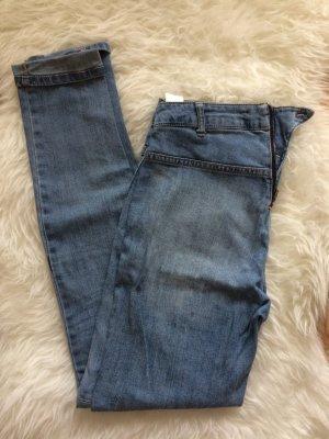 H&M Röhren Skinny Hose Leggings 38 M Neu blau