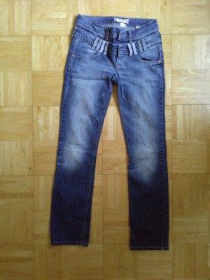 H&M Röhrenhose Jeans Gr. XS dunkelblau
