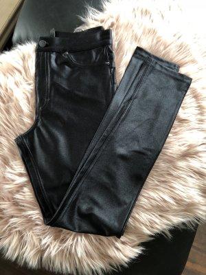 H&M Röhrenhose schwarz Gr. 36 S seidenmatt Stretch Hose