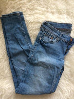 H&M Röhrenhose Skinny 38 M W28/30 Jeans blau