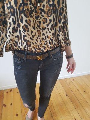H&M Röhrenjeans XXS XS 32 34 25 schwarz Löcher Risse Röhre Hose Jeans Leggings