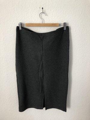 H&M Falda de talle alto gris