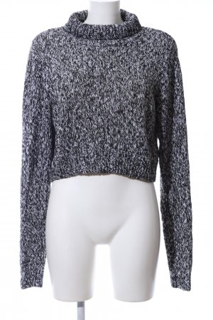 H&M Turtleneck Sweater black-white flecked casual look