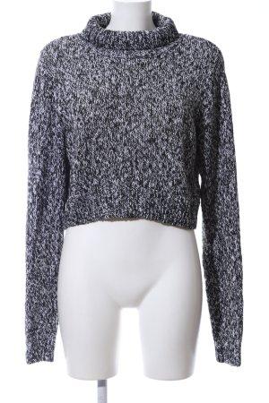 H&M Maglione dolcevita nero-bianco puntinato stile casual