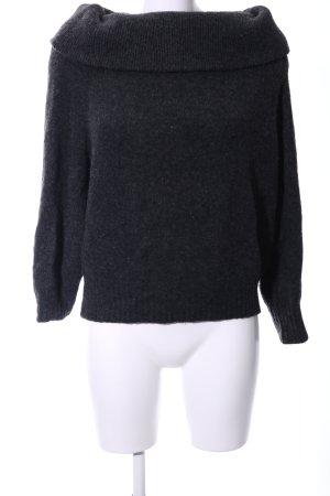 H&M Maglione dolcevita grigio chiaro puntinato stile casual