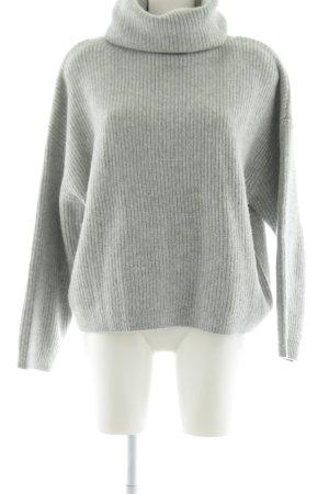 H&M Pull-over à col roulé gris clair style mode des rues