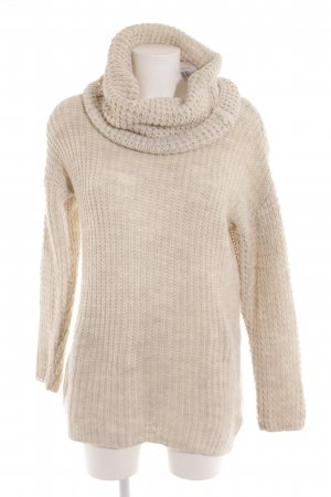 H&M Turtleneck Sweater cream flecked casual look